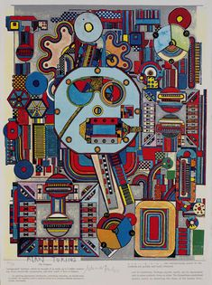 Alan Turing, The Enigma - Image 3 from the Turing Suite 2000 by Eduardo Luigi Paolozzi Hamilton, Eduardo Paolozzi, Pop Art, Alan Turing, Art Thou, Gcse Art, Cultura Pop, Illustrations, Graphic Design Illustration