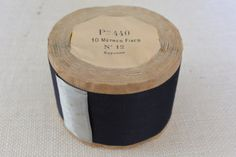 Navy and Silver Vintage Satin Ribbon 2 wide 10 by archivetrim, $22.00