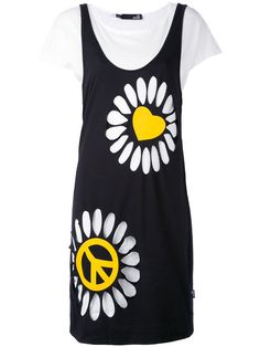 LOVE MOSCHINO Daisy Print Dress. #lovemoschino #cloth #dress