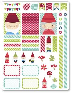 Gnomes Decorating Kit / Weekly Spread Planner by PlannerPenny