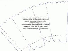 POPCORN box WITH score lines  Box templates Scrapbook paper and