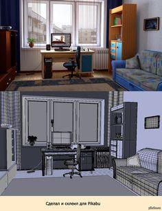 ♥•♥ комната в 3-D   Blender ♥8• #Blender