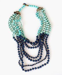 Tushabe Layered Necklace - Noonday Collection - Handcrafted Paper Beads made by Ugandan artisans