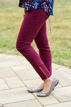 September 2016 Fall Stitch Fix Review featuring Collective Concepts Minden Pleat Detail Blouse with the Pistola Caterina Frayed Hem Ankle Zip Skinny Jeans.