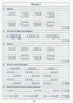 Kiszámoló 4. osztály Bullet Journal, Math Equations