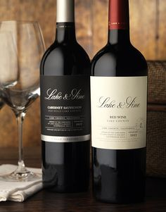 Lake & Vine Wine Label and Package Design by CF Napa Brand Design