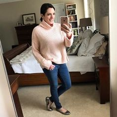 Obsessed with all things blush right now. 💗 This chunky sweater just went on sale and sizes are going fast. Details: http://liketk.it/2qqHZ @liketoknow.it #liketkit #ootd #winterstyle #instastyle #fashionover40 #personalstyleblogger