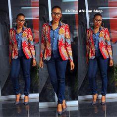 Ankara blazer ~African fashion, Ankara, kitenge, African women dresses, African prints, African men's fashion, Nigerian style, Ghanaian fashion ~DKK