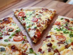 Blogger Diane Schmidt of  Createdby-Diane shows how this Scrambled Egg Pizza recipe could be a great breakfast for your game day crowd.