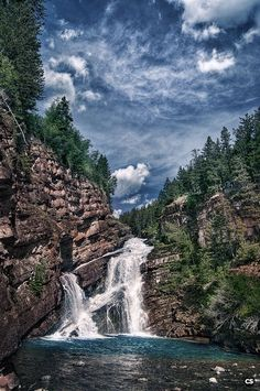 Waterton Lakes National Park, Canada - Cameron Falls ✈✈✈ Don't miss your chance to win a Free International Roundtrip Ticket to anywhere in the world **GIVEAWAY** ✈✈✈ https://thedecisionmoment.com/free-roundtrip-tickets-giveaway/