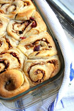 Orange Kissed Cinnamon Rolls with Cranberries and Pecans by A Little Rosemary and Time