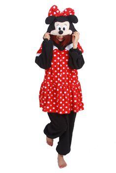 Minnie Mouse Kigurumi Pajamas Anime Cosplay Costume Unisex Adult Onesie Sleepwea #Unbrand