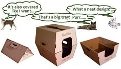 Litter tray, cover box, collapsible and earth friendly too...