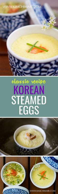 cool Happy Easter! A very easy egg dish, Korean style :)... Egg Recipes, Asian Recipes, Cooking Recipes, Healthy Recipes, Chicken Recipes, Korean Steamed Egg, Steamed Eggs, Korean Dishes, Kuchen