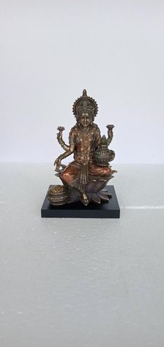 Lakshmi Statue, Saraswati Statue, Great Graduation Gifts, Altar Decorations, Goddess Lakshmi, Sapphire Necklace, Family Gifts, Bronze Finish, Mother Gifts