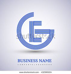 Letter GE or EG linked logo design circle G shape. Elegant blue colored letter symbol. Vector logo design template elements for company identity. - stock vector