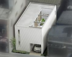 Narrow Residential Modern Toyota Home Espacio Metso Minimalist Architecture, Japanese Architecture, Architecture Plan, House Front Design, Tiny House Design, Japanese Style House, Saint Ouen, Small Tiny House, Compact House