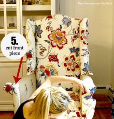 how to reupholster a chair (NO SEW!!)