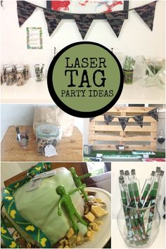 Budget Friendly Laser Tag Boy's 7th Birthday Party - Spaceships and Laser Beams