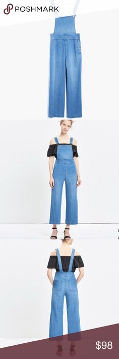 """Madewell Summit Culotte Overalls Adorable 70's style culotte overalls from Madewell. Size medium. Worn only one time. Not really right for my height and body type. 98% cotton 2% elastene. 24"""" inseam cropped style. Madewell Jeans Overalls"""