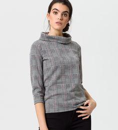 Shirt im Karo-Look 6002 Trends, Zero, Turtle Neck, Sweaters, Shirts, Fashion, Nice Asses, Moda, Sweater
