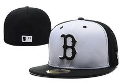 Cheap MLB Boston Red Sox 59Fifty Hats Retro Classic Pop Caps White Black|Factory Direct Sale and Please go follow me to pick up coupons