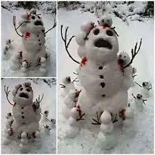 30 Funny & Creative Snowmen