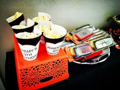 Popcorn was a huge hit with the little ninjas running around and these really helped bring together the Naruto theme. Baby Boy 1st Birthday, 1st Boy Birthday, Birthday Parties, Naruto Birthday, Popcorn, Party Ideas, Running, Anime, Food