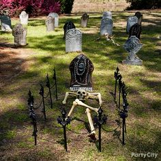 Create the haunted house of your dreams or nightmares when you shop spirit s wide selection of halloween decorations. From scary halloween decorations to party decorations we have everything you need to transform every room of your home. Halloween als . Halloween Prop, Halloween Graveyard Decorations, Outdoor Halloween Parties, Adult Halloween Party, Halloween Skeletons, Holidays Halloween, Halloween Ideas, Halloween Carnival, Halloween Activities