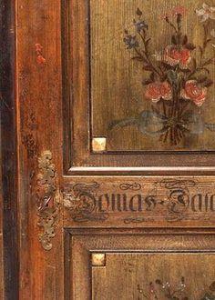 painted  furniture door detail
