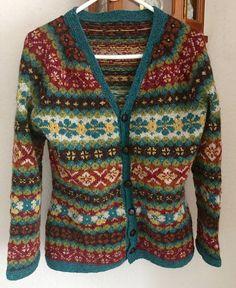 Ravelry: Project Gallery for Hedgerow pattern by Ann Kingstone Knitting Charts, Knitting Patterns, Knitting Ideas, Knitting Machine, English Country Fashion, Fair Isle Pullover, Rowan Yarn, Fair Isle Pattern, Fair Isle Knitting