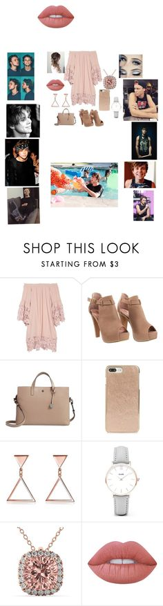 """going to a dinner party with him❤️"" by briannacliffs ❤ liked on Polyvore featuring Muche Et Muchette, Lodis, Kate Spade, CLUSE, Allurez and Lime Crime"