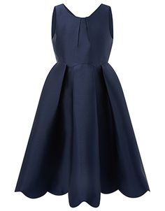 Take her formal wardrobe to stylish new heights with our Sarria dress for girls. With a scallop hem and sharp pleat details, this graceful party design ties ...
