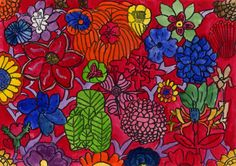 Flower'd designs created by the pupils of Sir John Cass Primary School