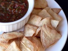 3 ingredients and 20 minutes to perfect baked corn tortilla chips - just like at the resturant but better!