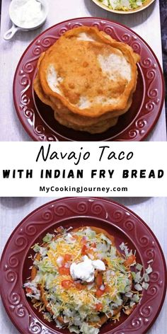 Indian Fry Bread, is a very popular deep fried Flatbread that is used to make the Navajo Tacos. This bread is also used to make a simple dessert when drizzled with honey or sprinkled with powdered sugar. Recipes With Yeast, Kosher Recipes, Easy Bread Recipes, Lunch Recipes, Easy Dinner Recipes, Drink Recipes, Easy Meals, Dessert Recipes, Cooking Recipes