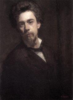 Ferdinand Hodler · Autoritratto · 1879 · Ubicazione ignota