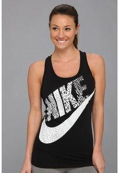 I am always such a sucker for classic black and white! Nike - RU Print Futura Tank (Black) - Apparel on shopstyle.com