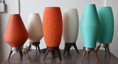 atomic beehive lamps! (midcentury, mcm, retro, design, decor, interior, lighting)