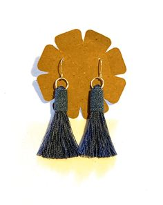 Excited to share this item from my shop: Denim fabric tassel earrings blue jean jewelry boho hippie lightweight unique birthday gift for her statement stylish handmade fun fringe Denim Earrings, Tassel Earrings, Drop Earrings, Unique Birthday Gifts, Birthday Gifts For Her, Stainless Steel Earrings, Denim Fabric, Boho Hippie, Boho Jewelry