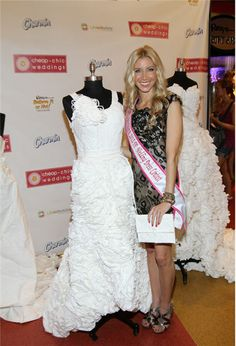 Winner of 2012 Toilet Paper Wedding Dress contest announced