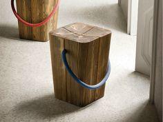 Sgabello in legno massello HUG by ELITE TO BE