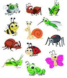 Играем до школы: Картинки для детей. Насекомые, паук и улитка Cute Disney Drawings, Cartoon Drawings, Cute Drawings, Bug Cartoon, Cute Cartoon Animals, School Murals, Baby Drawing, Bullet Journal Art, Zentangle Patterns
