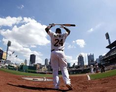Pedro Alvarez of the Pittsburgh Pirates warms up before batting against the Cincinnati Reds during the game on May 6, 2012 at PNC Park