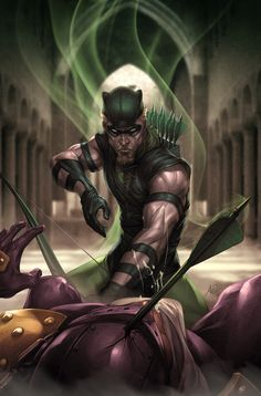 Green Arrow (if anyone knows the artist's name, please let me know)