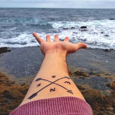 compass tattoo - like this but with canoe oars @aliwills23