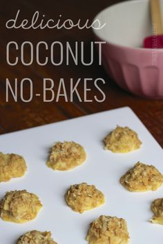 Coconut No Bake Cookies, easy no-bakes for coconut lovers and how to make no-bakes with cookie cutters into heart shaped cookies for Valentines Day!