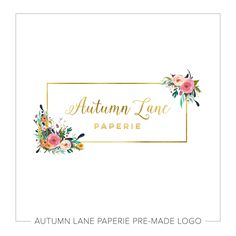 This listing is for a customizable Box with Gold & Floral Logo. Put your company's name on it today!