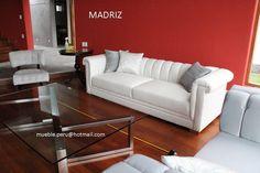 Collection MADRIZ: moderna composicion de elegante sofa y butacas finamente tapizadas en chenille italiano y complementada con una hermosa mesa de centro elaborada en acero. Diseño fabricado a pedido. Consultas: mueble.peru@hotmail.com Telefono: (511) 798 9801 - 994 139912