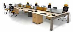 DeskWorx benching desk line at R & D Data Products #deskworx #dlcustom #benchingdesks #clusterdesks